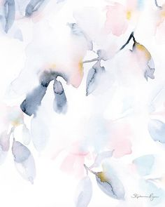 I love when my painting have a calm feeling about them. This soft abstract floral will take you to a peaceful center and help to soothe your spirit. Printed on