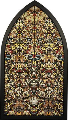 """DAMIEN HIRST  Sad Steps – Life Fulfilled,2006  butterflies and household gloss on canvas  227.6 × 121.9 cm (89 5/8 × 47 7/8 in)  Signed, titled and dated 'Damien Hirst """"Life Fulfilled"""" 2006' on the reverse."""