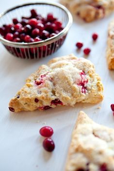 Rosemary-Cranberry Scones #recipe at feastSTL.com