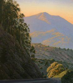 """Into Mill Valley"", 24"" x 20"", Mt. Tamalpais, Marin County, California, Northern California Landscape Painting, original oil painting, Mt. Tam, Marin woods, scenic road, dreamy light, Terry Sauve, terrysauve.com"