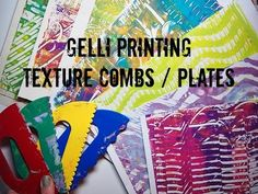 Gelli® Printing Texture Combs / Rolling Pins - YouTube with Marta Lapkowska