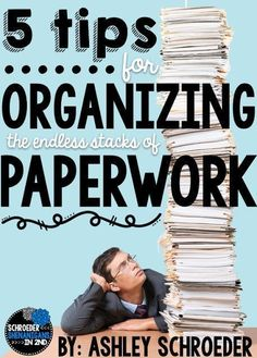 Keep the paperwork organized, your teacher desk clean, and give all of those papers a PLACE!