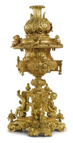 A LARGE NAPOLÉON III GILT BRONZE CENTERPIECE,France,third quarterof the 19th century