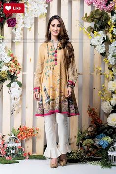 Ethnic Pompom Neckline Printed Shirt Pret 2017 - Original Online Shopping Store Whatsapp: 00923452355358 Website: www. Pakistani Fashion Casual, Indian Fashion, Fashion Fashion, Runway Fashion, Fashion Online, Pakistani Bridal Wear, Pakistani Dresses, Casual Dresses, Fashion Dresses