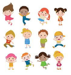 Group of children vector art illustration Kids Cartoon Characters, Cartoon Kids, Work Inspiration, Graphic Design Inspiration, Powerpoint Background Design, People Illustration, Flat Illustration, Kid Character, Free Vector Art