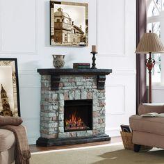 Semineu care se poate amplasa la perete cu focar electric de 18 inch. Old World, Romania, Pine, Dark, Brown, House, Home Decor, Pine Tree, Decoration Home