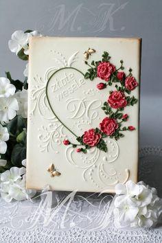 Golden wedding anniversary cookie by Mila Krylova