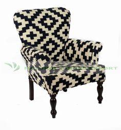 Natural Fibres Export Kilim Upholstered Chair  #Furniture