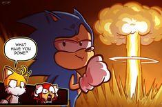 Sonic The Hedgehog, Shadow The Hedgehog, Cartoon Crossovers, Cartoon Tv, Shadow Sonic, Funny Instagram Memes, Sonic Funny, Sonic Mania, Sonic Franchise