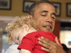 POTUS giving comfort to a little one..aaaaawww...
