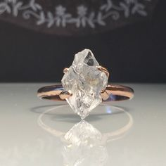 A personal favorite from my Etsy shop https://www.etsy.com/listing/530312932/raw-rose-gold-herkimer-diamond