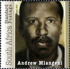 Stamp: Andrew Mlangeni (South Africa) Anniversary of Rivonia Trial) Mi:ZA 2256 Union Of South Africa, African Animals, 50th Anniversary, Trials, Postage Stamps, Birds, Album, History, Historia