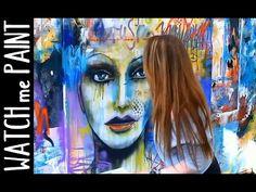 Abstract art painting - Speedpainting Portrait in street-art style by zAcheR-fineT - YouTube
