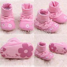 Free ShippingGirls Printing-flower Cute Shoes, Baby toddler slip on soft first walker infant pink footwearDrop Shipping
