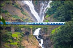 Visit the magnificent Dudhsagar waterfalls by booking this exciting waterfall and spice garden. Click here for details http://saxsonstravel.com/western.html