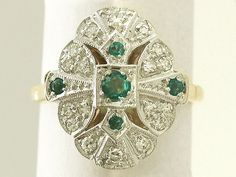 We love a vintage emerald ring here at AC Silver and this 18 carat yellow gold, platinum set vintage cocktail ring with 0.20 carat natural emerald and 0.36 carat diamond is no exception. SKU: A1370 Price: GBP £1295.00 http://www.acsilver.co.uk/shop/pc/0-20-ct-Emerald-and-0-36-ct-Diamond-18-ct-Yellow-Gold-Cocktail-Ring-Vintage-1988-168p6901.htm#.VKu6ky6_AR0 #emerald #diamond #ring #jewellery #vintage
