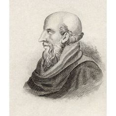 Chrysippus Of Soli Born Circa 280 Bc Died 207 Bc Greek Stoic Philosopher From The Book Crabbes Historical Dictionary Published 1825 Canvas Art - Ken Welsh Design Pics (13 x 16)