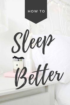 5 Ways How To Sleep Better : Dizzybrunette3