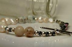Pearl, Hematite, Silver, Quartz, Lepidolite and *more* Quilt Bracelet by ksyardbird