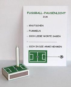 Fussball- Pausenlicht zur WM! von Kreativköpfchen auf DaWanda.com