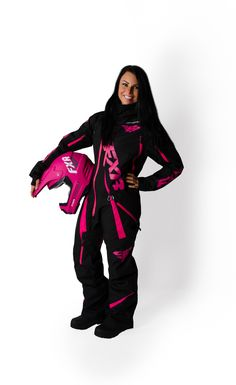 928504ad6b7c FXR Racing - 2015 Snowmobile Apparel - Women s Maverick Mono Suit - Black  Snowmobile Clothing