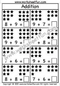 Addition Worksheet Kindergarten Pinterest Worksheets for all ...