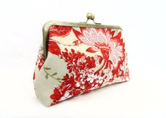 Clutch Purse Red and White Floral Clutch Purse by TheHeartLabel, £24.95