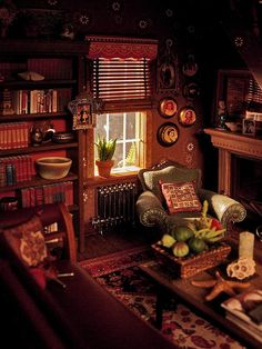 Wonderful miniature living room, Amy Gross flickr