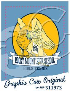 Rocky Mount High School Gryphon k12 mascot tennis #grafcow