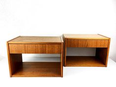 Set of 2 Mid-Century Danish Wall-Mounted Bedside Tables in