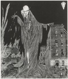 Harry Clarke, 1922, The Last Hour of the Night, illus. to Dublin of the Future