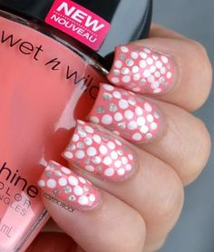 NAIL ART | Fabulously Dotted with Wet n Wild Wildshine Nail Color in She Shells