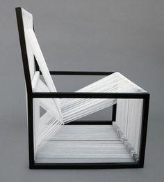 String black and white chair. Tanya Aguiringa