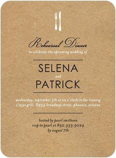 brown paper dinner invites // wedding paper divas