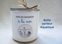 """Boîte Senteur """"Vive les vacances à la mer"""" - Bien-être à la maison : Soin, bien-être par ca-cause-au-lavoir"""