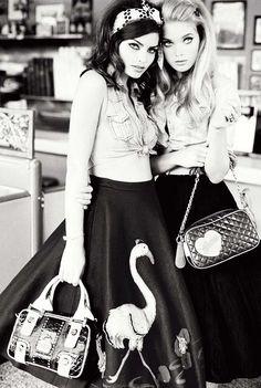 Guess Fall 2010 Campaign | Alyssa Miller & Elsa Hosk by Ellen von Unwerth