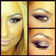"""chrisspymakeup: #Makeup  I used Coastal Scents shadows, with MAC Myth lipstick"""