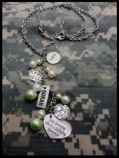 Military Wife Charm Necklace by PearlsForDogTags on Etsy, $21.00