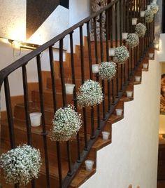 decoración boda margaritas escaleras - Buscar con Google