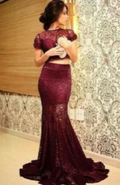 Dress: burgundy burgundy crop tops skirt prom