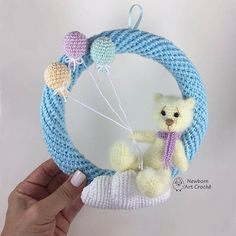 Best Images amigurumi bebe Concepts The actual unveiling associated with the Vintage Miffy Amigurumi Crochet Kit and XL Miffy Amigurumi Crochet Kit saw Sew Crochet Bunny Pattern, Crochet Patterns, Baby Kranz, Crochet Wreath, Crochet Baby Toys, Baby Crib Mobile, Baby Rattle, Crochet Projects, Free Pattern
