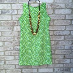 """NY&CO Size 8 Sleeveless Green & White Floral print Please note: necklace is NOT included.  Sleeveless Back Button Closure Summer/Beach Wear Green/White  Fabric Content: 100%Polyester Washing Instructions:  Care-Machine Wash Cold Gentle Cycle , Tumble Dry Low Condition - Preowned From A Smoke-Free Home Size: 8 Measurements taken from garment are provided and are the only size I can guarantee. Please refer to these measurements for a more accurate size.  Armpit to Armpit 20""""  Shoulder to Hem…"""