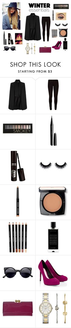 """Like winter!"" by seniora ❤ liked on Polyvore featuring Maje, Forever 21, Marc Jacobs, Bobbi Brown Cosmetics, Lancôme, Agonist, Lipsy, Ted Baker and FOSSIL"