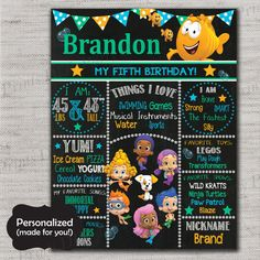 Bubble Guppies Birthday sign,Bubble Guppies,Bubble Guppies sign,JPG file,sign,Birthday sign,Guppies,Bubble Guppies Party,DPP76