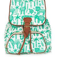 Safari Zoo Backpack - Animal Kingdom - New In - Topshop Europe Topshop Bags, Backpack Purse, Leather Backpack, Fashion Backpack, Rucksack Bag, Fashion Bags, Women's Fashion, Pretty Backpacks, Totes