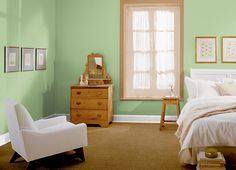This is the project I created on Behr.com. I used these colors: BLONDE WOOD(M250-7),GREEN HERB(PPH-55),