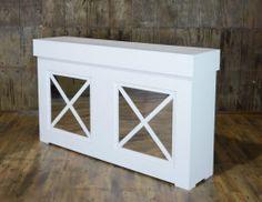 Shaker Facade White Bar 6′
