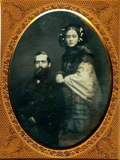 +~+~ Antique Photograph ~+~+   Stunning photograph of a couple, there's just something so expressive about this portrait.