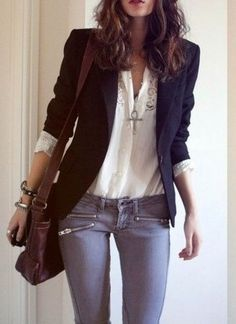 The whole outfit (but no rips). Especially the blazer.