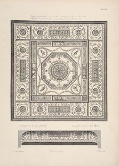 """Design for a painted ceiling in a room called the """"japanned room"""" in the queen's house."""